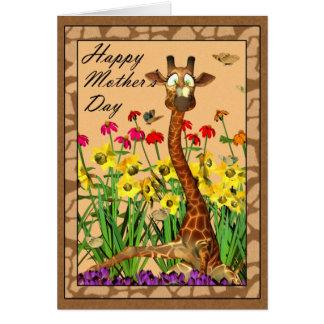 Dia das mães feliz, serindo de mãe a domingo com cartão comemorativo
