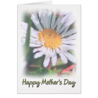 Dia das mães - margarida do Watercolour Cartão Comemorativo