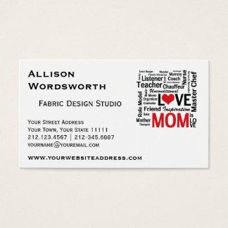 Dia das mães ou aniversário a multitarefas cartão de visitas