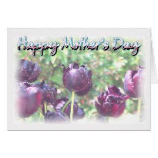 Dia das mães - tulipas do Watercolour Cartão Comemorativo