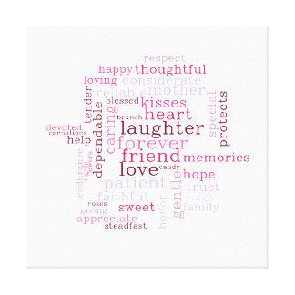 Dia das mães Wordcloud Impressão Em Tela