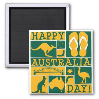 Dia de Austrália Ímã Quadrado