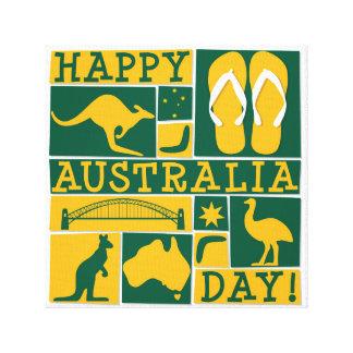 Dia de Austrália Impressão Em Canvas