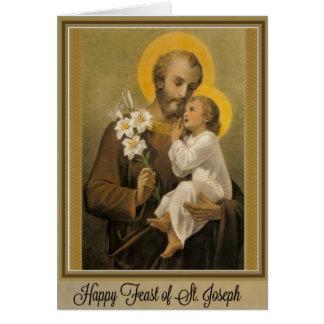 Dia de banquete St Joseph cartão do 19 de março