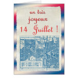 Dia de Bastille feliz Cartão Comemorativo
