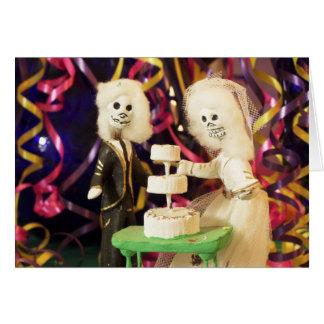 Dia de Bride_Groom do casamento inoperante Cartão Comemorativo
