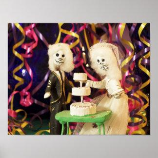 Dia de Bride_Groom do casamento inoperante Pôster