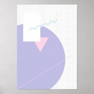 Dia de calendário geométrico 1 - poster A3