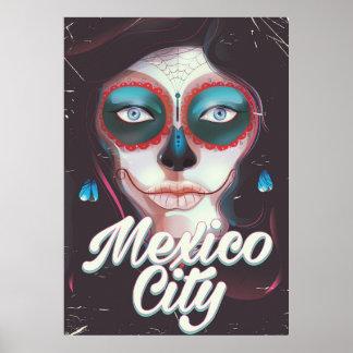 Dia de Cidade do México do poster de viagens
