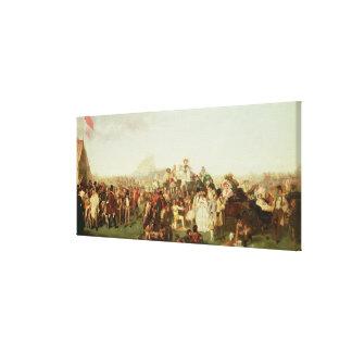 Dia de Derby cópia Impressão De Canvas Esticada