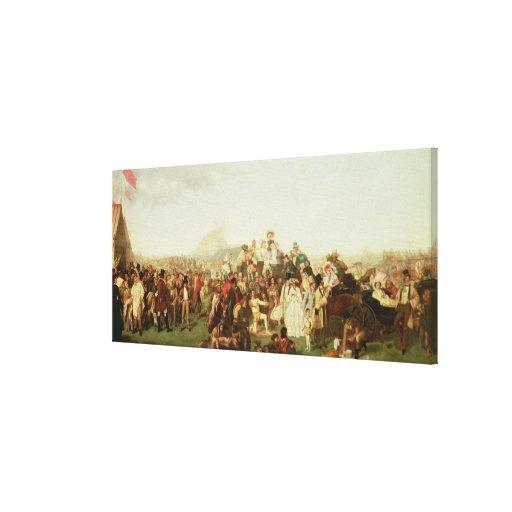 Dia de Derby (cópia) Impressão De Canvas Esticada