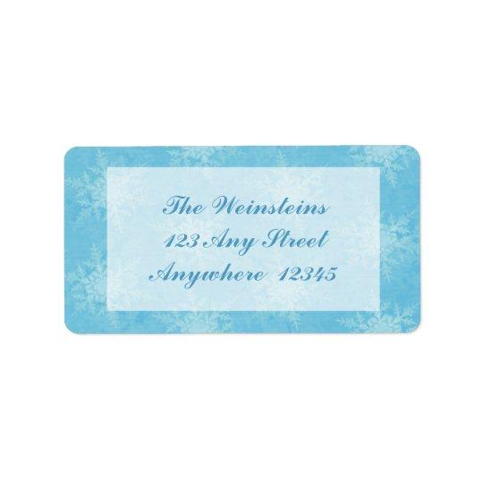 Dia de inverno etiqueta de endereço