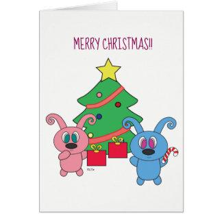 Dia de Natal de Rollys - cartões de Natal