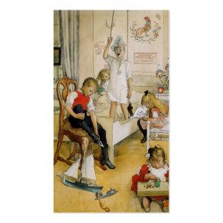 Dia de Natal no berçário 1894 Cartões De Visitas