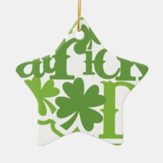 Dia de São Patrício, design irlandês de Patrick de Ornamento De Cerâmica Estrela