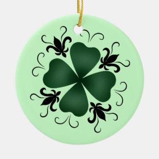 Dia de São Patrício extravagante do trevo do victo Ornamento Para Arvores De Natal