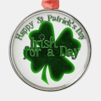 Dia de São Patrício feliz - irlandês por um dia Ornamento Para Arvore De Natal