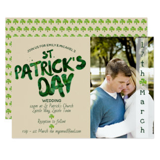 Dia de São Patrício que WEDDING o convite -