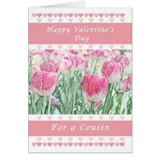 Dia de são valentim para um primo, uns corações cartão