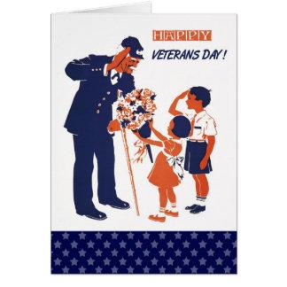 Dia de veteranos feliz. Cartões feitos sob