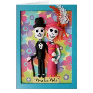 Dia de Vida do La de Viva do cartão de casamento