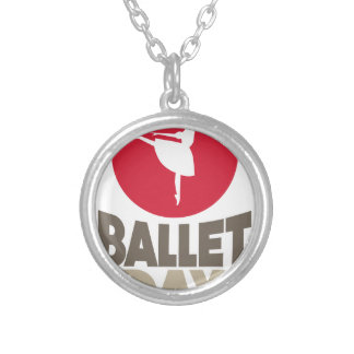 Dia do balé - dia da apreciação colar banhado a prata