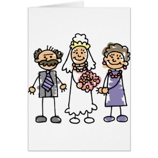 Dia do casamento dos pais das noivas antes da ceri cartoes
