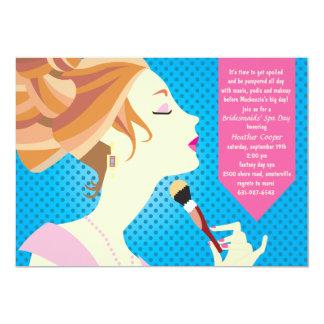 Dia do convite dos termas da beleza convite 12.7 x 17.78cm