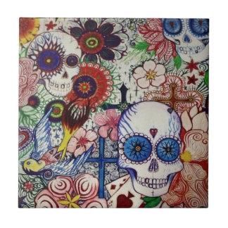 dia do crânio do açúcar da arte mexicana