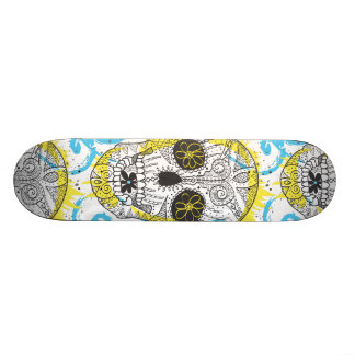 Dia do design cómico do tatuagem do crânio inopera shape de skate 18,7cm
