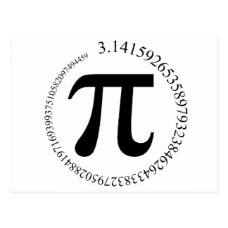 Dia do Pi (π) Cartoes Postais