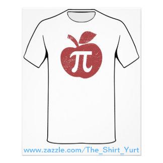 Dia do Pi da torta de Apple Flyer 11.43 X 14.22cm