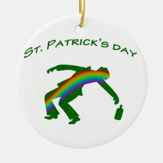 Dia do St. Patricks Ornamento De Cerâmica Redondo