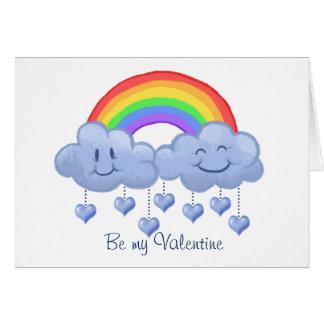 Dia dos namorados do amor da nuvem cartão comemorativo