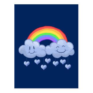 Dia dos namorados do amor da nuvem cartão postal