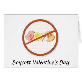Dia dos namorados do boicote cartão comemorativo