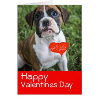 Dia dos namorados do filhote de cachorro cartão comemorativo