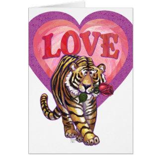 Dia dos namorados do tigre cartão de nota
