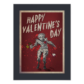 Dia dos namorados do zombi pôster
