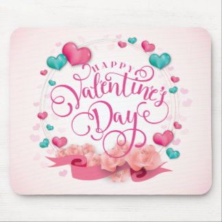 Dia dos namorados elegante | Mousepad dos corações