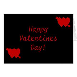 Dia dos namorados feliz! cartão comemorativo