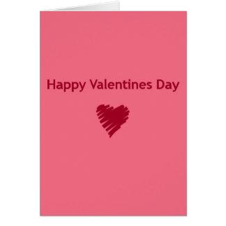 Dia dos namorados feliz cartão de nota