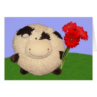 Dia dos namorados feliz da vaca cartão comemorativo