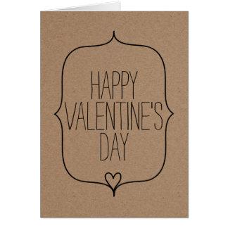 Dia dos namorados feliz do coração bonito rústico cartão comemorativo