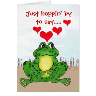 Dia dos namorados Hoppy do sapo - cartão