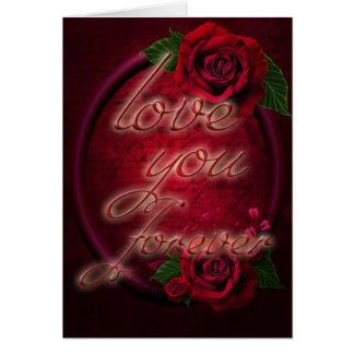 Dia dos namorados romântico dos rosas cartão comemorativo