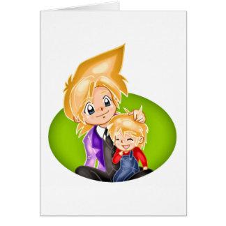 Dia dos pais 2 cartão comemorativo