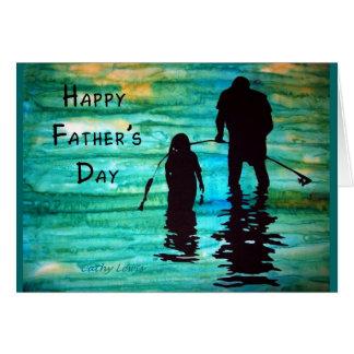 Dia dos pais cartão comemorativo