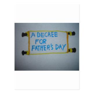 Dia dos pais cartão postal