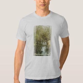 Dia dos pais da paisagem da angra da floresta t-shirts